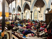 Refugees have taken shelter at the Central Methodist Mission in Cape Town.