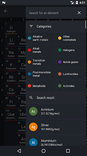 Periodic Table 2018 app (apk) free download for Android/PC/Windows screenshot