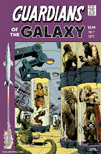 Photo: GUARDIANS OF THE GALAXY #7 VARIANT COVER. 2013. Ink(ed by Joe Rivera) on bristol board with digital color, 11 × 17″.
