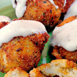 STUFFED MASHED POTATO BALLS