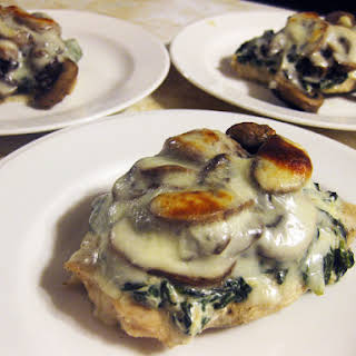 Spinach and Mushroom Smothered Chicken (Medifast & GF).