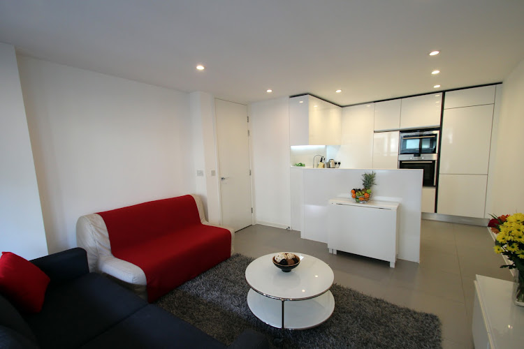 living space at Dance Square serviced apartments