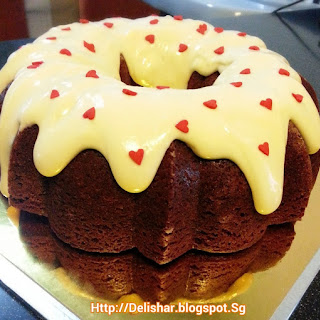 Red Velvet Bundt Cake with Cream Cheese Glaze!