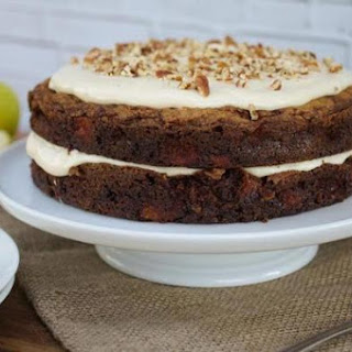 Recipe For Apple-cinnamon Layer Cake With Maple Cream Cheese Frosting