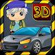 3DCartoon Backyard Car Parking