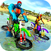 Superhero Water Surfer Bike Racing: Beach Racer
