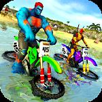 Superhero Water Surfer Bike Racing: Beach Racer