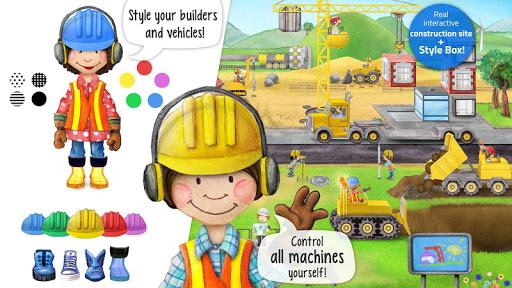 Tiny Builders: Crane, Digger, Bulldozer for Kids  screenshots 1