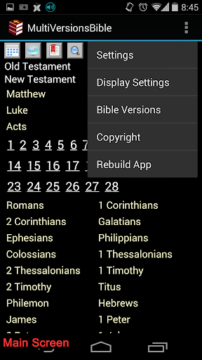 Multi-versions Bible screenshot 2