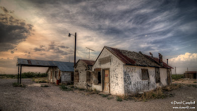 Photo: An Untended Station There's a neat little ghost town called Orla just on the Texas side of the Texas/New Mexico border on US-285. We get to pass by it one or two times a year and it's always interesting to see how time and neglect change the look of it. This time we were lucky enough to be driving through during excellent light. Like a lot of photographers, one day I would love to do a project of photographing ghost towns across the American West...