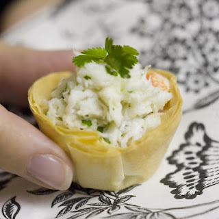 Phyllo Cups with Crab Salad