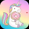 Cute backgrounds - kawaii wallpaper unicorn icon