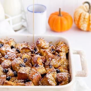 Cinnamon Raisin Pumpkin French Toast Bake