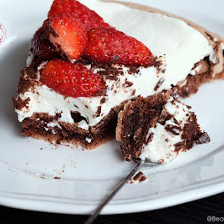 Double Chocolate Pavlova with Mascarpone Cream