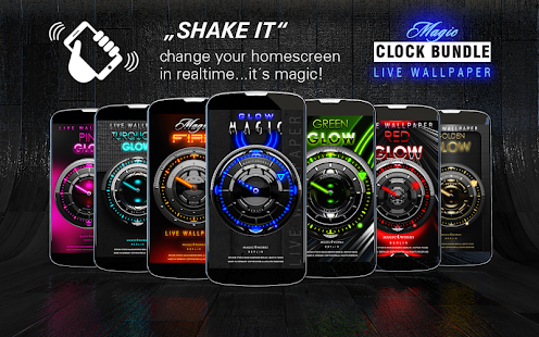 Laser Analog Clock Bundle LWP Screenshot