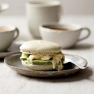 Matcha-Macaron Ice Cream Sandwiches
