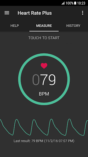 Heart Rate Plus - Pulse & Heart Rate Monitor  screenshots 1