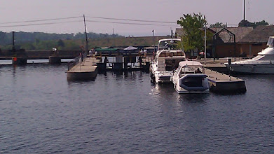 Photo: Waiting at Lock 45, the last lock on the Trent Severn Waterway
