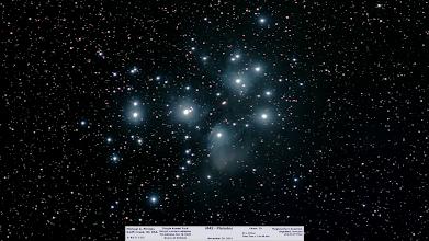 Photo: M45 sporting some nebula night before last...