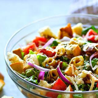 Tortellini Panzanella Salad with Balsamic Honey Vinaigrette.
