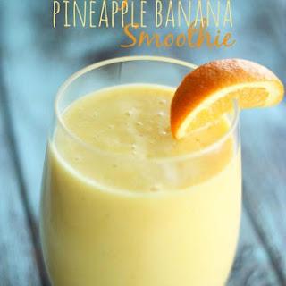 Orange Pineapple Banana Smoothie.