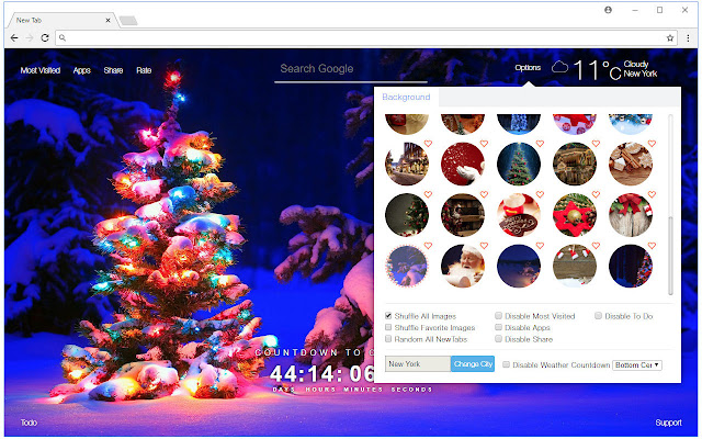 welcome the heart warming holiday with a christmas countdown clock hd wallpapers of the nativity in every new tab happy new year
