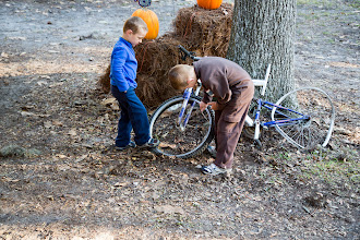 Photo: checking out the beaten bike