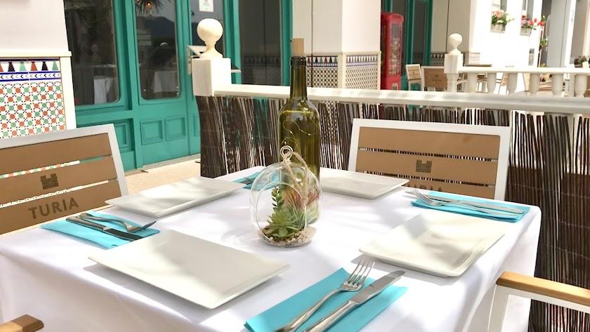 La terraza del Hotel Restaurante Blanca Brisa cumple con todas las medidas de seguridad.