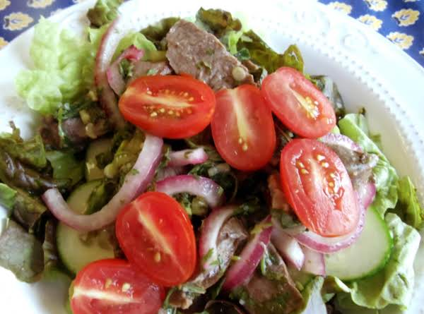 Spicy Grilled Beef Salad (kelaguen)