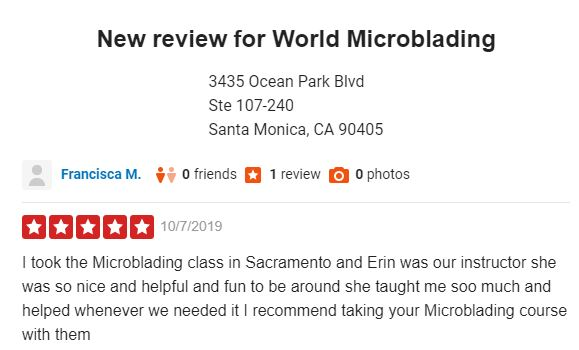 Worldmicroblading Class Review