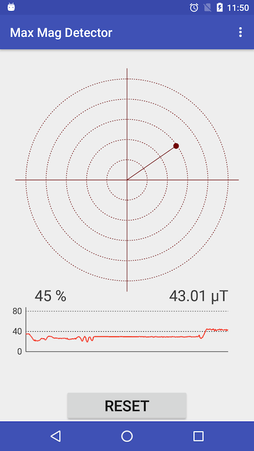 Max Magnetic Field Detector- screenshot