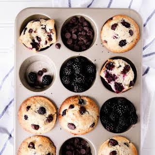 Dark Chocolate Blackberry Muffins.