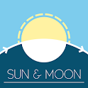 Sun & Moon - Rise, Set, Full moon icon