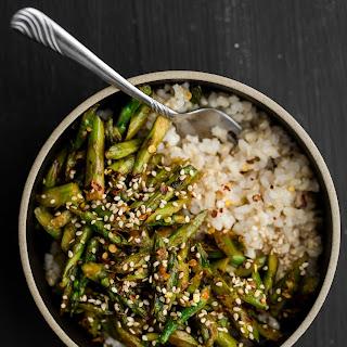 Asparagus Stir-Fry with Sesame-Miso Sauce