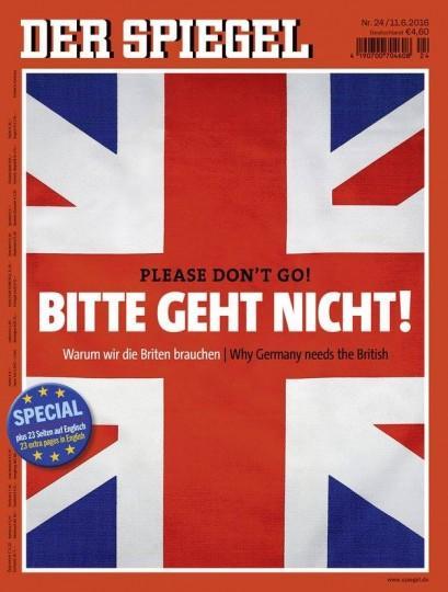 Έκκληση του Spiegel στους Βρετανούς: Please don't go!
