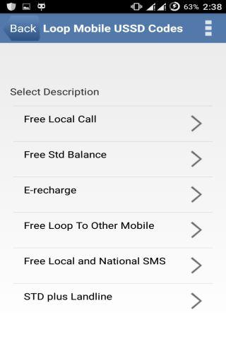 Loop Mobile USSD Codes