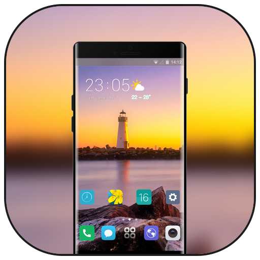 Theme for LG G7 thinQ lighthouse rock wallpaper icon