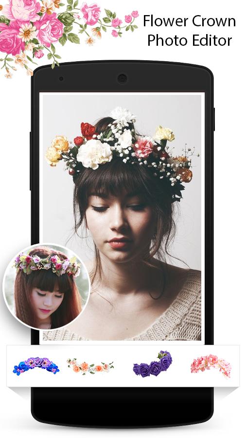 Flower Crown Photo Editor Screenshot