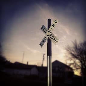 Railroad Crossing by Katie Schmitt - Artistic Objects Other Objects (  )