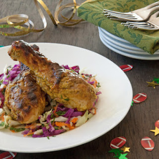 Tandoori Chicken with Mango Curry Slaw
