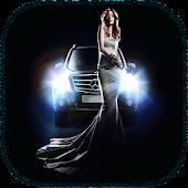Girl And Car LiveWallpaper