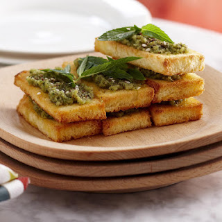 Hazelnut and Herb Toasts