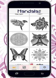 Mandalas Color By Number Pixel Art Coloring Page APK Screenshot Thumbnail 1