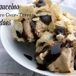 Cappuccino Potato Chip Topped Sundaes