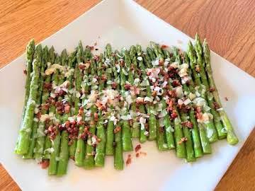 Asparagus with Parmesan Vinaigrette