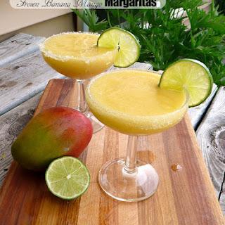 Frozen Banana Mango Margarita