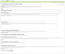 Photo: I18n y l10n al Español del producto PloneMeeting - Configuración de reunión - Editar opción General