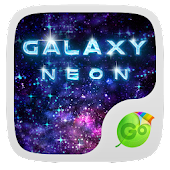 Neon Galaxy GO Keyboard Theme