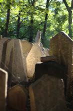 Photo: Jewish cemetery in Prague old town.  The Jews were restricted to living in the walled ghetto for hundreds of years, which lead to layers upon layers of graves.  Wonderful light on a sunny afternoon.