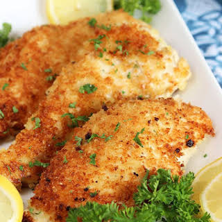 Easy Parmesan Crusted Chicken Cutlet.